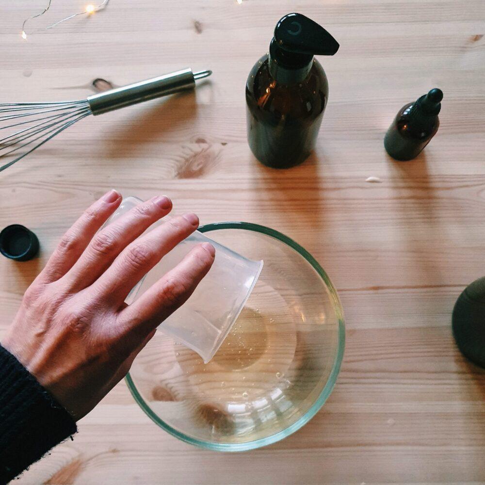 Making a natural liquid hand soap