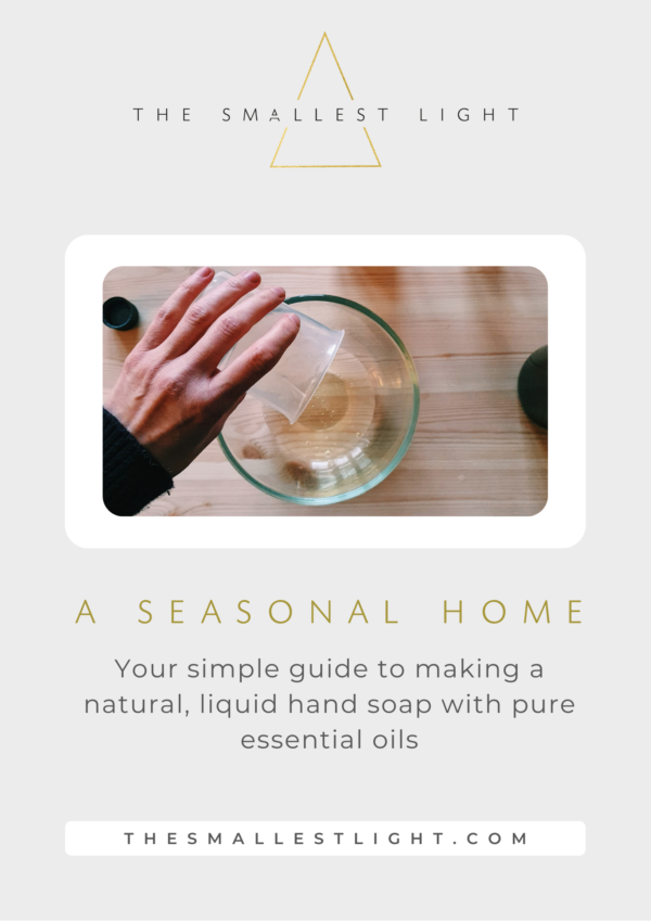 Your Simple Guide to making a natural, liquid hand soap