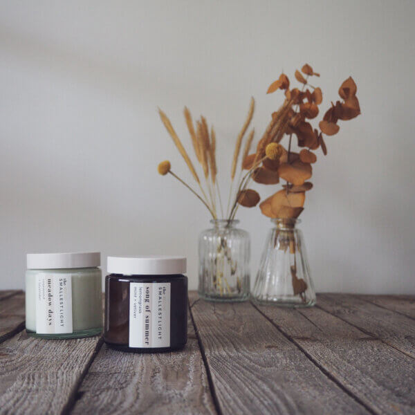 Natural Candles with Essential Oils by The Smallest Light