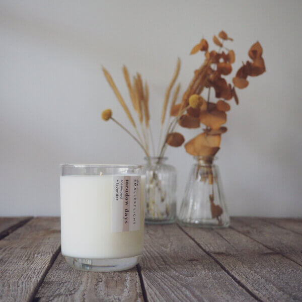 Rosewood and Lavender Soy Candle from The Smallest Light