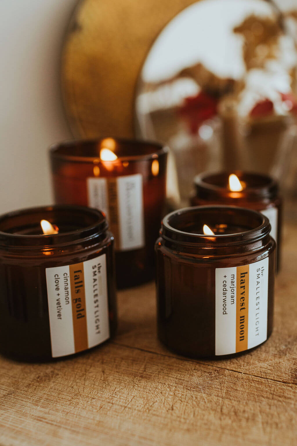 Natural Lit Candles from The Smallest Light