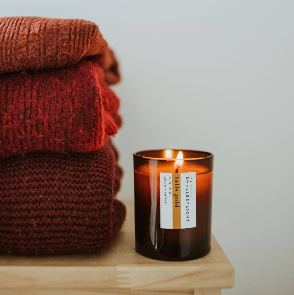 Natural Candles packaged with recycled materials
